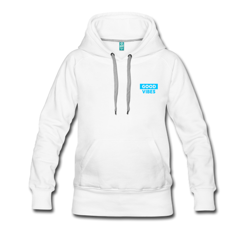 Good Vibes (Cool Blue) - Women's Premium Hoodie - white