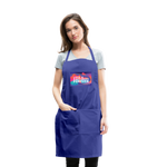 Love & Happiness Forever - Adjustable Apron - royal blue