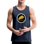 Breathe and Live Good Karma - Men's Premium Tank - navy