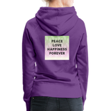 Peace Love Happiness Forever - Women's Premium Hoodie - purple