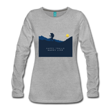 Happy Trails Happy Life - Women's Premium Long Sleeve T-Shirt - heather gray