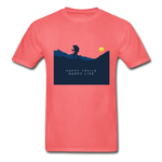 Happy Trails Happy Life - Hanes Adult Tagless T-Shirt - coral