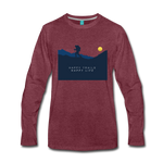 Happy Trails Happy Life - Men's Premium Long Sleeve T-Shirt - heather burgundy