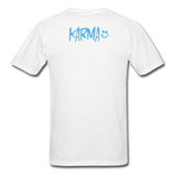 Karma Eye - Adult Tagless T-Shirt - white