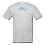 Karma Eye - Adult Tagless T-Shirt - heather gray