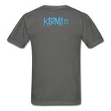 Karma Eye - Adult Tagless T-Shirt - charcoal