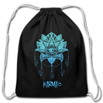 Karma Eye - Cotton Drawstring Bag - black
