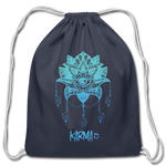 Karma Eye - Cotton Drawstring Bag - navy