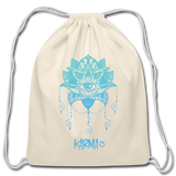 Karma Eye - Cotton Drawstring Bag - natural