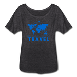 Happy Travel - Women's Flowy T-Shirt - charcoal gray