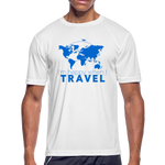 Happy Travel - Men's Moisture Wicking Performance T-Shirt - white