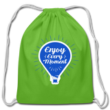 Enjoy Every Moment - Cotton Drawstring Bag - clover