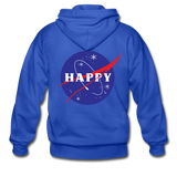 Happy Snow Space - Adult Zip Hoodie - royal blue
