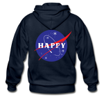 Happy Snow Space - Adult Zip Hoodie - navy