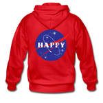 Happy Snow Space - Adult Zip Hoodie - red