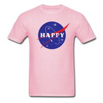 Happy Snow Space - Cotton Adult T-Shirt - light pink