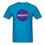Happy Snow Space - Cotton Adult T-Shirt - turquoise