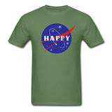 Happy Snow Space - Cotton Adult T-Shirt - military green