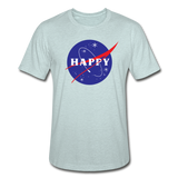 Happy Snow Space - Unisex Heather Prism T-Shirt - heather prism ice blue