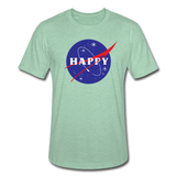 Happy Snow Space - Unisex Heather Prism T-Shirt - heather prism mint