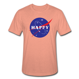 Happy Snow Space - Unisex Heather Prism T-Shirt - heather prism sunset