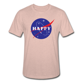 Happy Snow Space - Unisex Heather Prism T-Shirt - heather prism peach