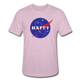 Happy Snow Space - Unisex Heather Prism T-Shirt - heather prism lilac