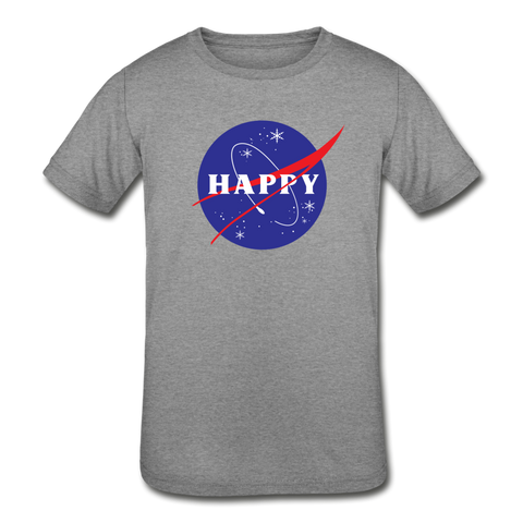 Happy Snow Space - Kids' Tri-Blend T-Shirt - heather gray