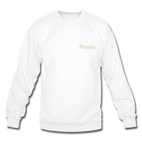Happy. - Crewneck Sweatshirt - white