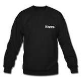 Happy. - Crewneck Sweatshirt - black