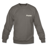 Happy. - Crewneck Sweatshirt - asphalt gray