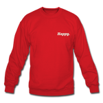 Happy. - Crewneck Sweatshirt - red
