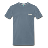 Happy. - Men's Premium T-Shirt - steel blue