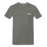 Happy. - Men's Premium T-Shirt - asphalt gray
