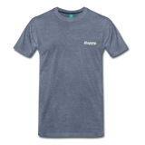 Happy. - Men's Premium T-Shirt - heather blue