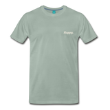 Happy. - Men's Premium T-Shirt - steel green