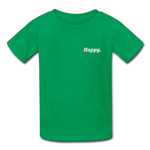 Happy. - Kids' T-Shirt - kelly green