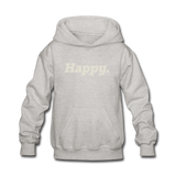 Happy. - Kids' Hoodie - heather gray