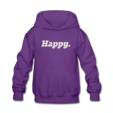 Happy. - Kids' Hoodie - purple