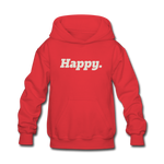 Happy. - Kids' Hoodie - red