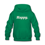 Happy. - Kids' Hoodie - kelly green
