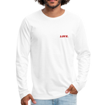 Love. - Men's Premium Long Sleeve T-Shirt - white