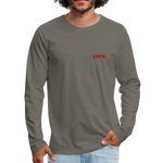 Love. - Men's Premium Long Sleeve T-Shirt - asphalt gray