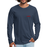 Love. - Men's Premium Long Sleeve T-Shirt - navy