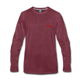 Love. - Men's Premium Long Sleeve T-Shirt - heather burgundy