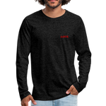 Love. - Men's Premium Long Sleeve T-Shirt - charcoal gray