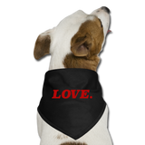 Love. - Dog Bandana - black