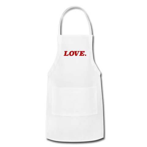 Love. - Adjustable Apron - white
