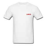 Love. - Adult Tagless T-Shirt - white
