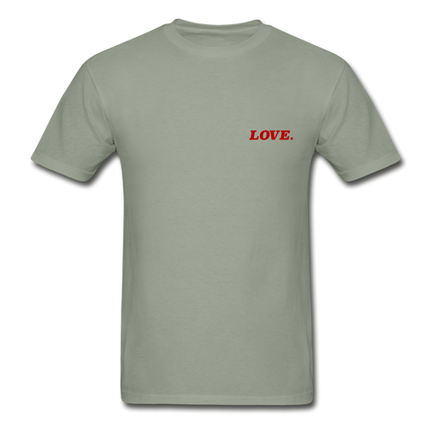 Love. - Adult Tagless T-Shirt - stonewash green